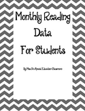 Monthly Reading Student Data Tracker