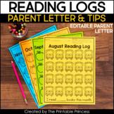 Monthly Readings Logs for Kindergarten