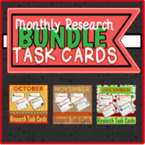 Monthly Research Task Cards {BUNDLE}