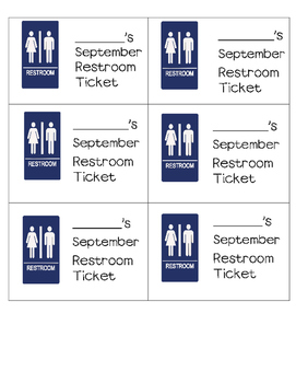 Monthly Restroom Ticket