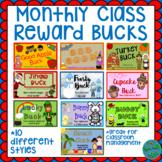Monthly Reward Bucks Class Dollars Behavior Management BUNDLE- 10 unique styles