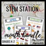 Monthly STEM Activities Bundle | Engineer Inspiration | Di