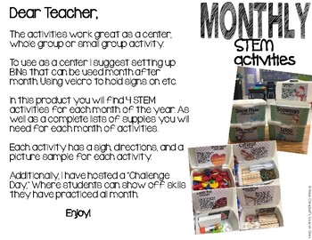 Monthly STEM Challenge ||March||