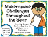 Monthly STEM/STEAM Challenge Menus for Makerspace