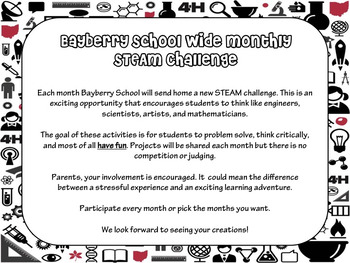 Monthly STEM - STEAM Challenges
