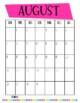 Monthly School Calendar 2017-2018