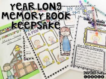 Memory Book Scrapbook-Year Long Writing Project