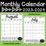 School Year Calendar | 2020-2021 | FREEBIE