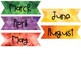 Watercolor Monthly Scrapbook Case Covers and Labels {Editable!}