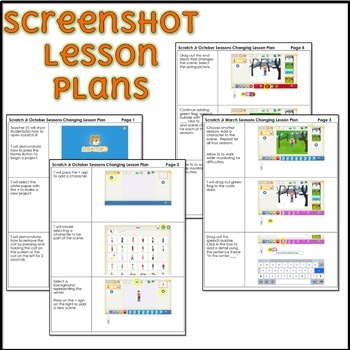 Monthly Scratch Jr Lesson Plan Growing Bundle