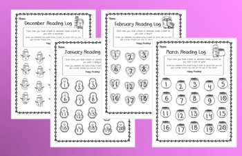 Monthly/Seasonal At-Home Reading Logs