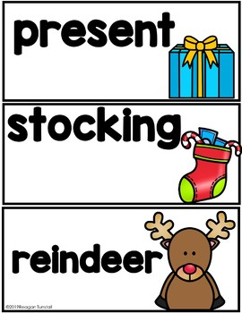 Monthly Seasonal Holiday Vocabulary Word Cards