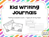 Monthly & Seasonal Kid Writing Journals