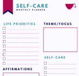Monthly Self-Care Planner