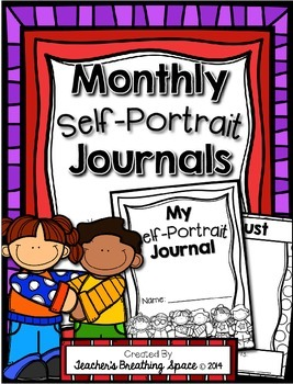 Self Portrait Journal - Monthly Self Portraits and Name Wr