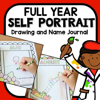 Monthly Self Portrait Journal for Preschool and Kindergarten