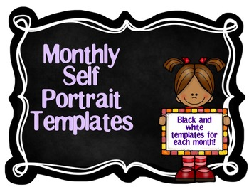 Monthly Self Portrait Templates