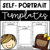 Monthly Self Portrait Templates