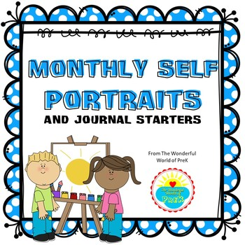 Monthly Self Portrait and Journal Starter Pages