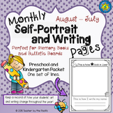 Monthly Self-Portrait and Writing Pages {Preschool and Kin