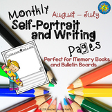 Monthly Self-Portrait and Writing Pages for Memory Books and Bulletin Boards