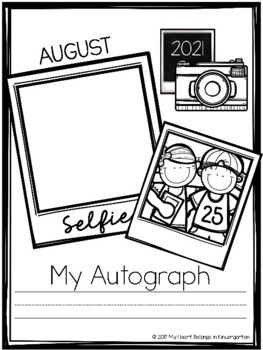 Self Portrait and Name Writing Book (Back to School Ideas)