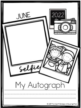 Self Portrait and Name Practice Book (Back to School Ideas)