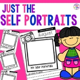 Monthly Self Portraits and Name Samples for Preschool, Pre-K, & Kindergarten