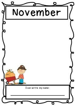 Monthly Self Portraits and name writing - Portfolio or Assessments