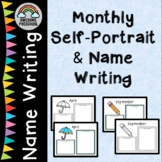 Monthly Self Portraits and Name Writing for Portfolios or