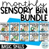 Monthly Sensory Bin Activities GROWING BUNDLE