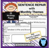 Monthly Sentence Repair and Editing with Monthly Themes, S