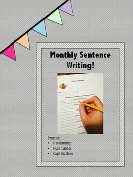Monthly Sentence Writing