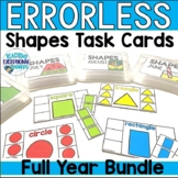 Monthly Shapes Errorless Task Boxes