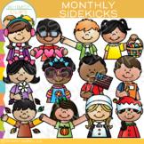 Sidekicks Monthly Clip Art