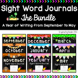 Kindergarten Sight Word Journals {The Year-Long BUNDLE}