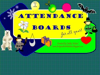 Monthly Smartboard Attendance Pages