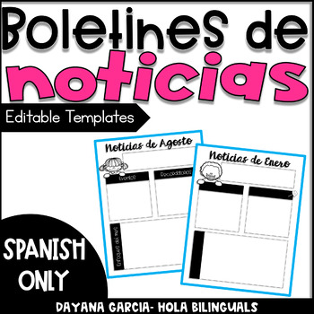 Monthly Spanish Newsletter Editable Templates