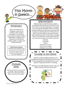 Monthly Speech Newsletter Packet