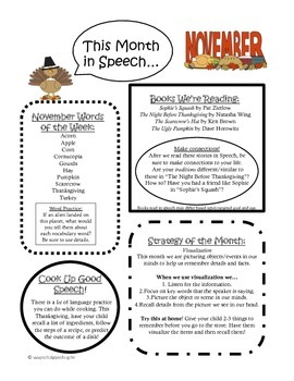 Monthly Speech Newsletter Packet