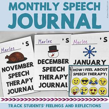 Monthly Speech Therapy Journal