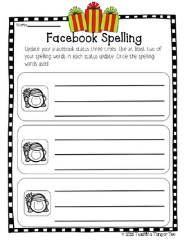Spelling Packets 45 Printable Pages for Any List *EDITABLE word list page*