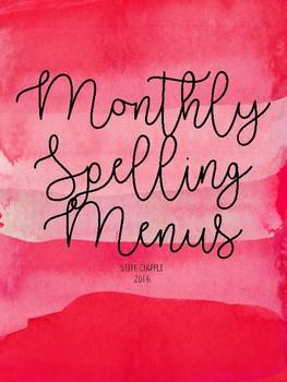 Monthly Spelling Menus