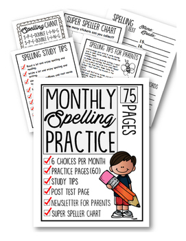 Monthly Spelling Practice
