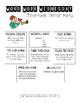 Monthly Spelling Practice Menu