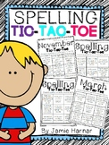 Monthly Spelling Tic-Tac-Toe Choice Boards
