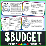 Budget Task Cards Activity - print & GOOGLE Form for distance learning