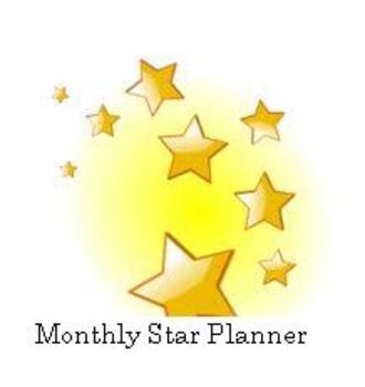 Monthly Star Planner