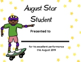Monthly Star Student Certificates