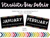Monthly Sterilite Bin Labels